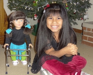 A walker for her doll - Christmas present from a brother