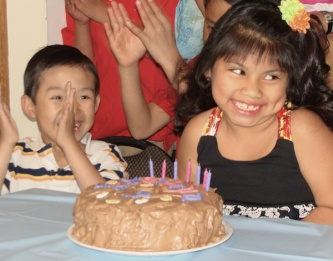 7th birthday - the first time she ever blew out her candles by herself