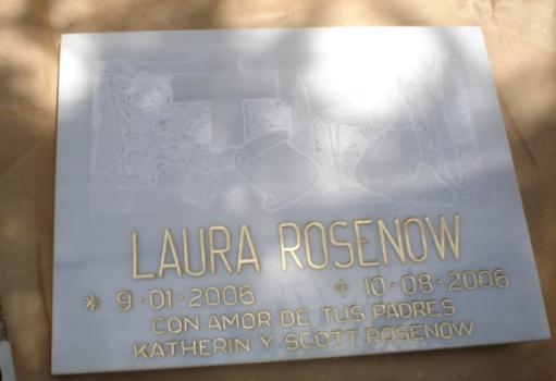 Lauren's burial stone