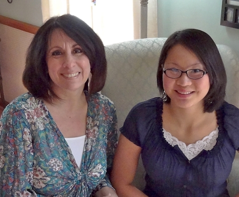 Mother-daughter visit to a local tea parlor