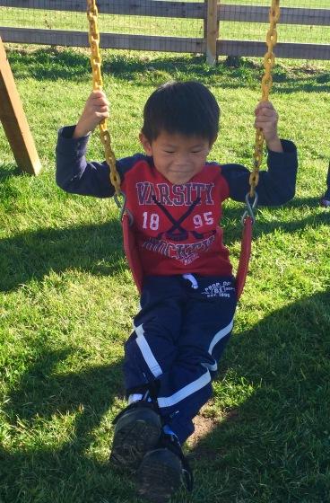 Jaden Swinging