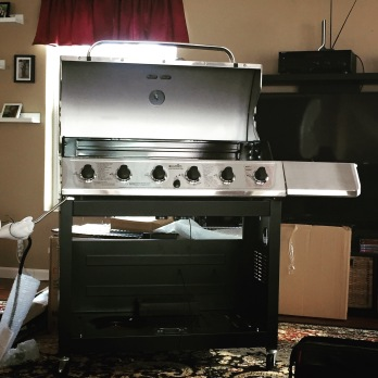 Grill Being Assembled